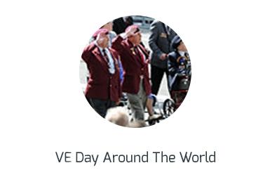 ww2 VE day around the world