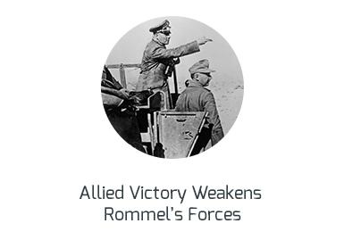 allied victory weakens rommel's